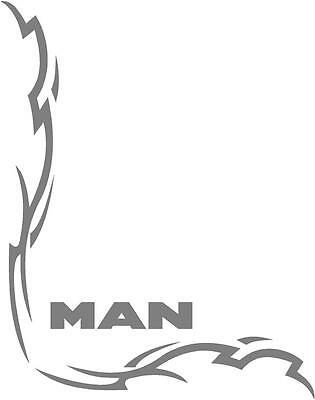 MAN Truck Tribal style cab side window stickers (pair) wording style