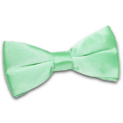 New Pre Tied Mens Wedding Dickie Bow Tie Mint Green