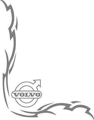 Volvo Truck Tribal style cab side window stickers (pair)
