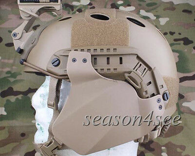 1Pair Airsoft Tactical Combat Rubber Side Cover for Emerson FAST Helmet Rail DE