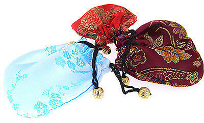 HOT seller 10PCS CHINESE HANDMADE EMBROIDERED Silk GIFT DRAWSTRING POUCHES BAGS