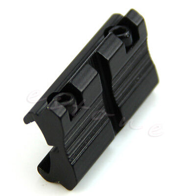 """New 2pcs Picatinny/W 3/8"""" 11mm Dovetail to 7/8"""" 20mm Weaver Rail Adapter Mount"""