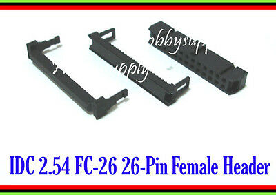 FC-26 IDC 26 Pin 2.54mm Female Header Connector Socket x 3 SETS