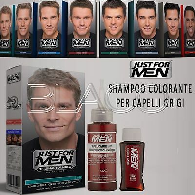 Just For Men Colorazione Maschile Shampoo Colorante Per Capelli Grigi