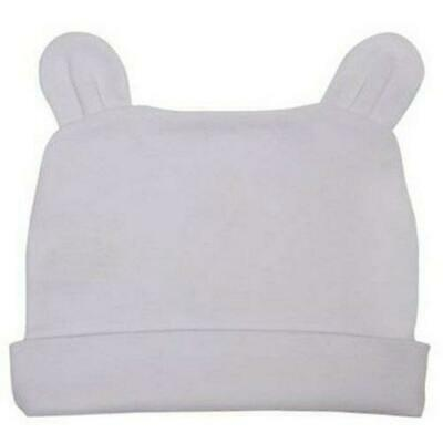 Organic Cotton Baby Caps Rabbit Ears Bennie | Pink Sky White | BRER