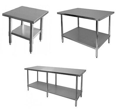 All Size Commercial Stainless Steel Kitchen Work Prep Table NSF (Free Shipping)