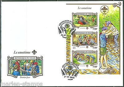 Niger  2015 Battle Against Malaria  Sheet With Red Cross Emblem First Day Cover