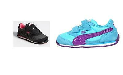 341c9a3cfe6 PUMA Girl s Toddler Steeple Glitter Black   Blue Casual Sneakers Size 5 6 8  10.5