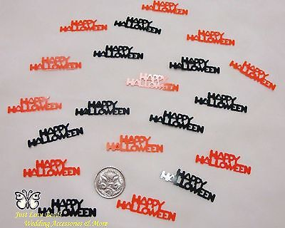 Wedding Table Scatters Confetti Happy Halloween