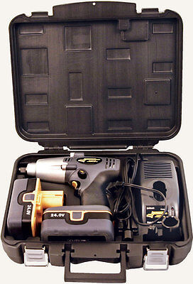 Longacre 52-68604 24V Cordless Impact Wrench ½ Drive with Case and Batteries