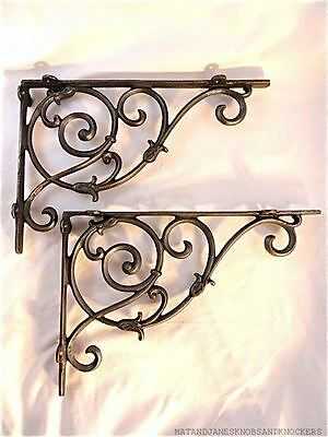 Pair Of Large Classic Victorian Vines Brackets Cast Iron Shelf Bracket Cistern
