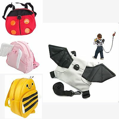 Cute Baby Kid Keeper Toddler Walker Safety Harness Backpack Bag Schoolbag