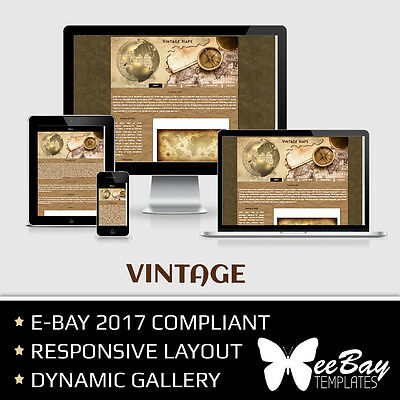 Professional eBay Auction Listing Template 31 OLD MAPS Custom HTML New Design