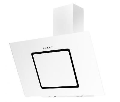 Cookology VER900WH White Angled Glass Chimney Cooker Hood   90cm Extractor Fan