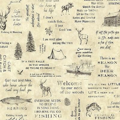 DOUBLE Roll TLL01472 Camping Rustic Wallpaper  MAKE ME OFFER FOR LOWEST PRICE
