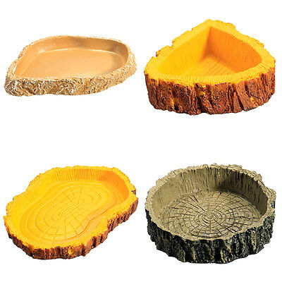 Water Dish Food Tray Bowl Pool For Amphibians Reptile Tortoise Snake Lizard Zoo