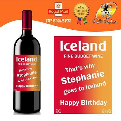 Personalised Funny Wine Bottle Label Birthday All Occasions