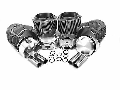 Porsche 356/912 86mm Big Bore Forged JE Piston & Cylinder Kit with Biral Liners
