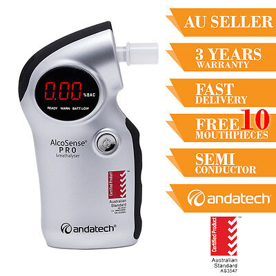 Breath Test Breathalyser AlcoSense Pro Australian Standard 3 Years Warranty