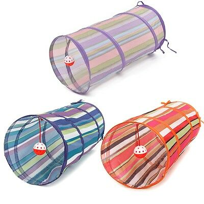 Pet Dog Cat Tunnel Colorful Toy Folding Pet FunTube Kitten Rabbit Play With Ball