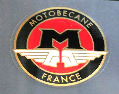 Motobecane badge - Circle - Black 'M' with white wings