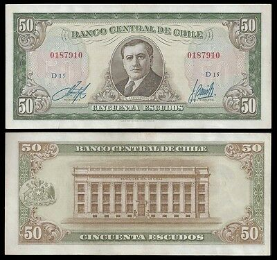 Chile 50 ESCUDOS Serie D ND (1962-75) P 140a VF