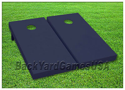 Navy Blue Cornhole Boards Custom BEANBAG TOSS GAME w Bags or Choose your COLOR