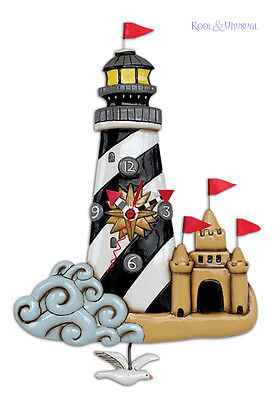 "Fabulous ""Beacon Lighthouse"" Designer Wall Clock by Allen Designs"