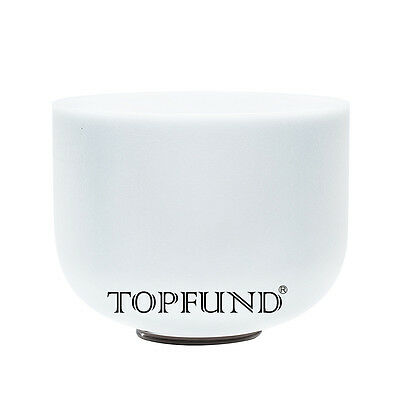 TOPFUND® Frosted C Root Chakra Quartz Crystal Singing Bowl 30 cm