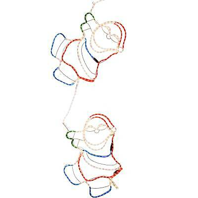 Large Animated Climbing Santa Rope Lights Silhouette Outdoor Wall Christmas
