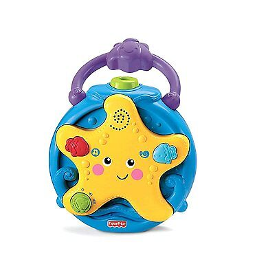 Baby Crib Night Light Projector Music Toy Soother Fisher Price Ocean Portable