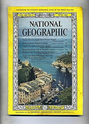 NATIONAL GEOGRAPHIC#National Geographic Soc. June 1963 - Vol.123 Italian Riviera