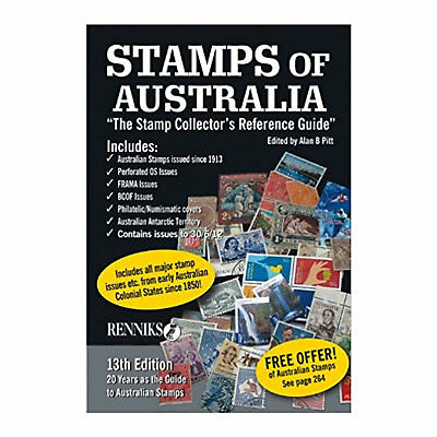 Renniks Stamps of Australia - 13th Edition Soft Cover Book - FULL COLOUR