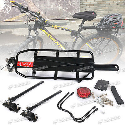 Universal Bike Bicycle Rear Luggage Rack Carrier Pannier with  Reflector  AU