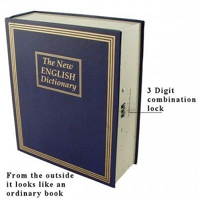 Combination Locking Book Diversion Safe - Protect Your Valuables