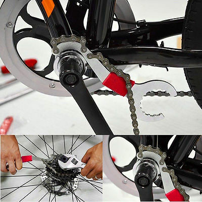3in1 Bicycle Chain Whip Sprocket Cassette Lockring Bottom Bracket BB Wrench Tool