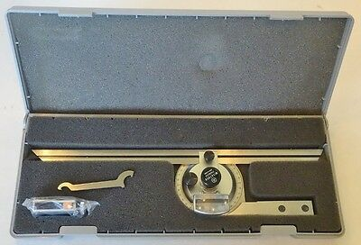"Mitutoyo 12"" Bevel Protractor Model 187-906"