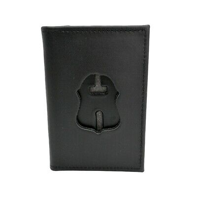 FBI Badge Wallet Double ID Cards Outside Mount Black Leather Philadelphia Police