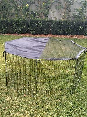 Somerzby Pet Playpen 8 Panel Run Chicken Rabbit Dog Puppy fence with COVER