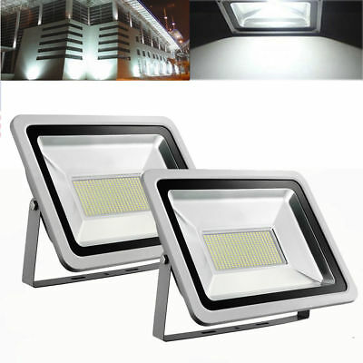 2X 200W Cool White LED SMD Flood Light Outdoor Security Spot Lamp AC 220V-240V