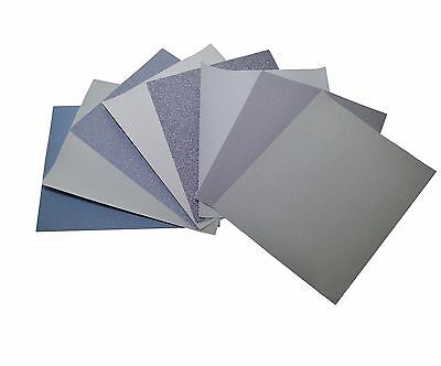 Silicon Carbide Wet & Dry SANDPAPER 80 to 7000 GRIT - 1/3/5/10 sheet