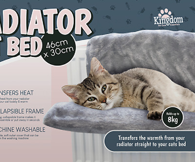 2x Cat Radiator Beds Pet Kitten Warm Fleece Basket Cradle Bed