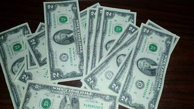 100% US Genuine Two 2 $ Dollar Bill Banknote Currency Money Bank Note