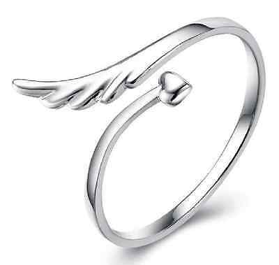925 Solid Sterling Silver Plated Women/Men NEW Fashion Cupi Rings Gift SIZE OPEN