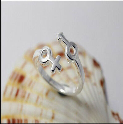 925 Solid Sterling Silver Plated Women/Men NEW Fashion Ring Gift SIZE OPEN HD321