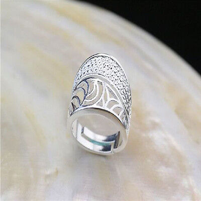 925 Solid Sterling Silver Plated Women/Men NEW Fashion Ring Gift SIZE OPEN HD888