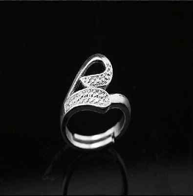 925 Solid Sterling Silver Plated Women/Men NEW Fashion Ring Gift SIZE OPEN HD555