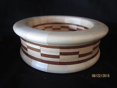 Hand-made segmented wooden bowl