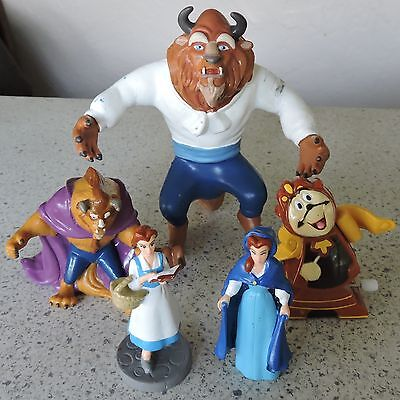 """Disney's 1991 """"Beauty and the Beast"""" - Lot of 5 PVC Toy Figures"""