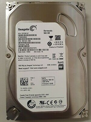 Seagate Barracuda 7200.12 500GB Internal Hard Drive SATA 3.5 For PC CCTV
